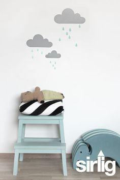 Wallstickers // skyer og dråber