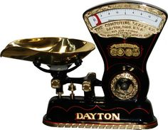 Antique Dayton Scale ... All the dry goods in the grocers' stores, etc., were weighed on scales like these when I was a child...