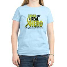 Never Knew A Hero 2 GOLD (Granddaughter) T-Shirt on CafePress.com