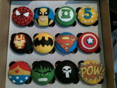 - Super hero cupcakes