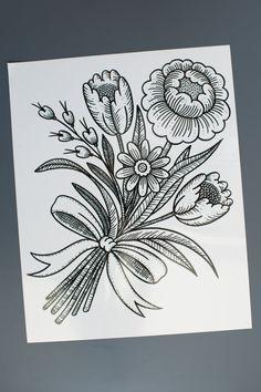 Temporary Bouquet Flower Tattoo Tattoo by Myra by MadeByTattooYou, $14.00