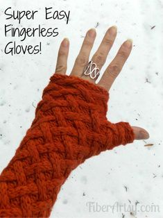Easy Fingerless Gloves from a Sweater | FiberArtsy.com