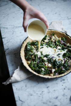 glutenfree kale quiche with mushrooms & coconut milk