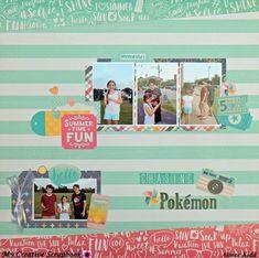 Chasing Pokemon - Scrapbook.com Echo Park Summer Dreams