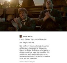 DOWN HERE IN THE POTTER FANDOM that is slowly dissolving into insanity as we are so desperate for an addition that we flip over a movie that was based off of a textbook that was mentioned twice in the series but who cares it'S HARRY POTTER AND MY HOUSE HAS A PROTAGONIST SUCK IT HATERS
