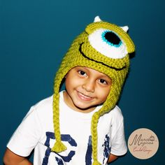 Mike Wazowski Crichet hat. Gorro de Mike Wazowski - Monsters Inc.