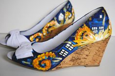 Doctor Who Painted Heels! Click the picture to design your own pair of custom shoes! #paintedshoes