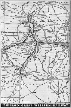 Chicago Great Western Map