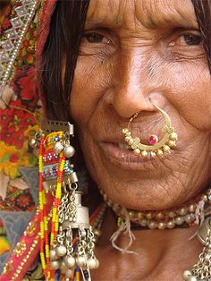 Indian woman with nose ring