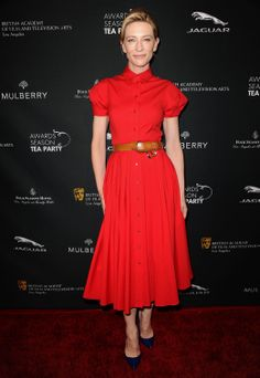 Red Carpet Winner: Cate Blanchett wears Michael Kors dress with Christian Louboutin pumps at the BAFTA Awards Season Tea Party.