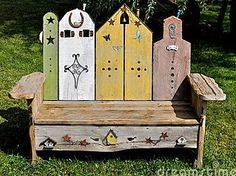 Bancs en bois jardin, créations maison ! - Le serviettage de nafeuse