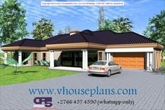 Overall Dimensions- x 2 Car Garage Area- 222 Square meters 4 Bedroom House Plans, My House Plans, Beautiful House Plans, Beautiful Homes, House Plans With Photos, Building Costs, Square Meter, Home Collections, Gazebo