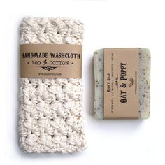 BATH SET - Soap and washcloth , Pick your natural soap, crochet washcloth, gift s for men , gifts for women, on Etsy, $15.00