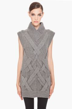 3.1 PHILLIP LIM 3D Cable Knit Tunic -- sleeves & collar