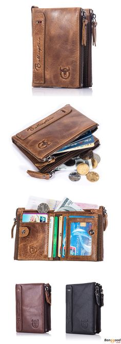 US$19.99 + Free Shipping. Men Wallet, Zipper Minimal Wallet, Genuine Leather Wallet, Short Wallet, Vintage Style, Coin Bag, Card Holder. Material: Genuine Leather. Colors: Brown, Black, Coffee. Perfect Wallet For You : )