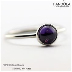 100% 925 Sterling Silver Purple Poetic Droplet Feature Rings Sterling-Silver-Jewelry Wedding Ring for Women Wholesale FLR078A