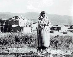 Man outside Taos Pueblo, New Mexico - 1900