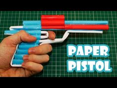 How to Make a Paper Revolver that Shoots - Pistol With Trigger - YouTube