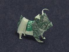 BABY BULLDOG Money Origami - Dollar Bill Art