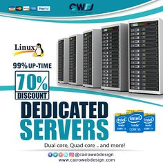 #Dedicated #Servers.. Get 8 IPs and more!!  Starting at $79.00/mo.  http://cairowebdesign.com/en/dedicated