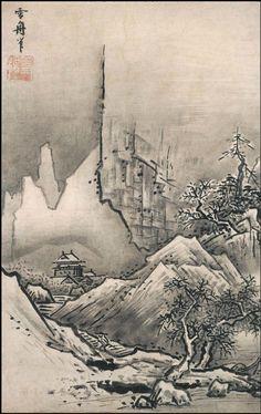 Sesshu Toyo, paisagem de inverno1470.