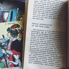 an excerpt from The Sexual Key To The Tarot by Theodor Laurence 1971 #tarottuesday #thefool #vintagebooks