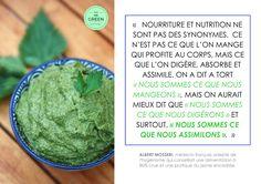 Citation - Pimp Me Green Nutrition, Ethnic Recipes, Green, Food, Healthy Living, Quotes, Eat, Essen, Yemek