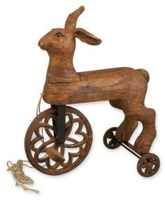 Folk Art Tricycle // interested in that front hearts overlapping inside a circle Antique Toys, Vintage Toys, Vintage Antiques, Tricycle, Folk, Year Of The Rabbit, Antiques Roadshow, Arte Popular, Naive Art