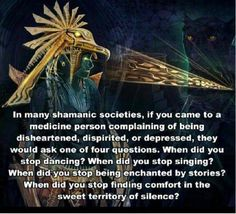 I don't really know about the singing or dancing (though I DO when nobody is around!) but I know about the silence! If you can't SHARE silence, something is very wrong!