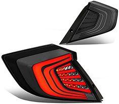 Amazon.com: DNA Motoring TL-3D-HC163P-SM-1 Pair 3D LED Bar Tail Light/Lamps Smoked [For 16-18 Honda Civic]: Automotive