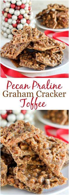 Pecan Praline Graham Cracker Toffee