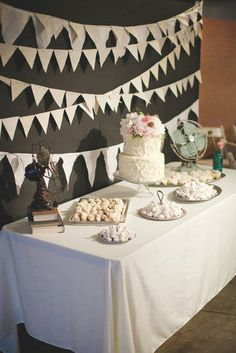 we could do something like this behind the dessert table...