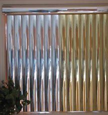 Blindsgalore Vinyl Vertical Blind: Mirrored by Blindsgalore. $61.00. Blindsgalore has designed its Vinyl Mirrored vertical blinds to fit any room with budget and style in mind.
