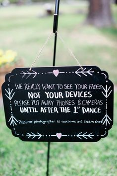 "Funny Wedding Photos 13 Unplugged Wedding Signs To Remind Guests To Stay In The Moment - ""Resist temptation. Be in the moment. Funny Wedding Signs, Unplugged Wedding Sign, Funny Wedding Photos, Wedding Humor, Wedding Tips, Trendy Wedding, Fall Wedding, Our Wedding, Dream Wedding"