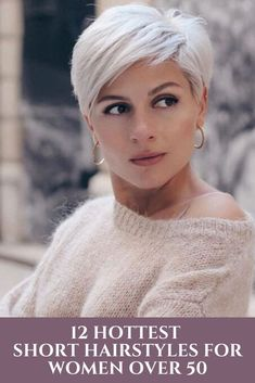 14 New Best Pixie Cut Ideas for 2020 – Coiffures Cheveux Short Hairstyles For Thick Hair, Short Grey Hair, Short Pixie Haircuts, Short Hair With Layers, Curly Hair Styles, Hairstyle Short, Short Hair Cuts For Women Over 50, Short Hair Over 50, Short Haircuts For Women