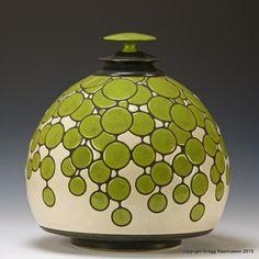 Utskaret Dew Jar - Gregg Rasmusson Ceramics