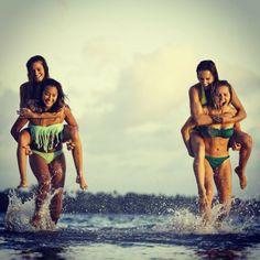 Girls just wanna have fun! Kelia, Bruna, Monyca & Sally