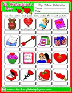 #VALENTINE'S DAY PICTURE DICTIONARY