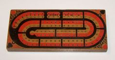 H.B. Dennison Cribbage Board and Game Counter, c.1878 from twoforhisheels on Ruby Lane