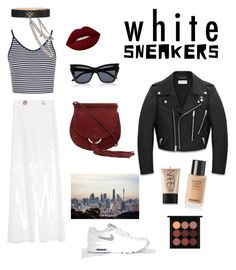 """Untitled #2"" by zeynep-kartal on Polyvore featuring Topshop, MO&Co., Yves Saint Laurent, Alexander McQueen, Lime Crime, MAC Cosmetics and NARS Cosmetics"