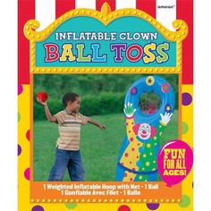 The Inflatable Clown Ball Toss Game includes an inflatable clown with a net and a ball. Use this inflatable ball toss game as a fun and safe party activity at a birthday, carnival, or circus party! Carnival Party Games, Carnival Birthday Parties, Carnival Themes, Birthday Party Games, Game Party, 3rd Birthday, Carnival Games For Kids, School Carnival, Circus Birthday