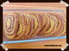 Galletas espirales de chocolate y naranja.  Unas galletas frescas y crujientes con un sabor delicioso. #diadelagalleta #recetas #reposteria #galletas