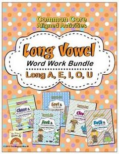Use these Common Core aligned word work activities to help students practice identifying, writing, and categorizing long a, e, i, o, and u words. For grades 1 & 2. CCSS Grade 1: RF.1.2a, RF.1.3c, Grade 2: RF.2.3a, RF.2.3c. $