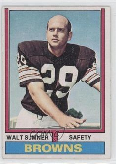 Walt Sumner Cleveland Browns (Football Card) 1974 Topps #36 by Topps. $1.50. 1974 Topps #36 - Walt Sumner
