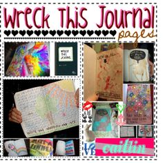 """List of Pages in Wreck This Journal ."" by immaorettyprincess on Polyvore"