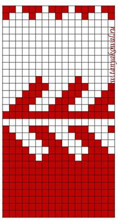 j19 (373x700, 251Kb) Tunisian Crochet Patterns, Tapestry Crochet Patterns, Fair Isle Knitting Patterns, Fair Isle Pattern, Knitting Charts, Filet Crochet, Knitting Stitches, Knitting Socks, Baby Knitting