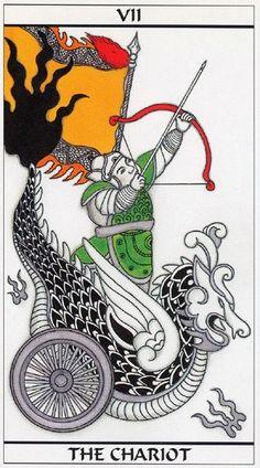 VII. The Chariot - Meditation Tarot by Mondo Oki Mei Unasaka