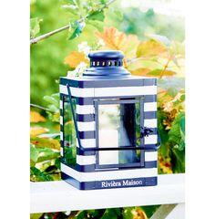 Hampton Bay Stripe Lantern navy | Rivièra Maison