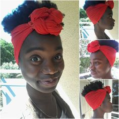 Simple headscarf tie that works for all lengths