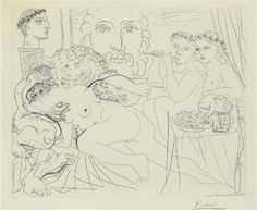 Minotaure Caressant une Femme, Plate 84 from La Suite Vollard (B. 191; Ba. 350) By Pablo Picasso ,1933
